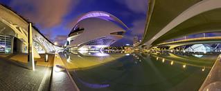 Valencia - Palau de les Arts Reina Sofía (Panorama)