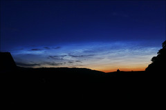 Noctilucent Cloud. 01.30, 18JUL2017 (McRusty) Tags: noctilucent nlc cloud summer night phenomenom high altitude shimmering white long after dark natural outdoor beauty stratherrick highland scotland blue peach gloaming colour