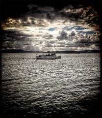 On her way to Uddevalla... (iEagle2) Tags: sunningen boat uddevalla sweden summer swedishwestcoast westcoast iphone iphone6 sea water