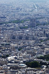 Notre Dame de Paris viewed from the Eiffel Tower (Muddy LaBoue) Tags: iledefrance monuments towers iconicarchitecture 1889 2017 july worldexposition eiffeltower paris france attractions tourism panasoniclumixdmctz60 summer