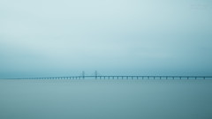 The Bridge II (Normann Photography) Tags: denmark e20 limhamn malmö sweden border connection minimalism minimalistic patience quiet sea seacape ön öresundsbron øresund øresundsbroen skånelän se