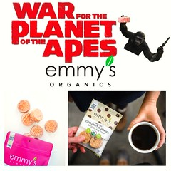 Emmy's Organics Coconut Cookies Signage (The Pop Bag) Tags: newyorktimes film club justins banana chip snack pack peanutbutter dip emmysorganics glutenfree vegan organic nongmo coconut cookies healthy delicious yummy tasty nutritious bandarfoods naanchips chips garlic tikkamasala himalayan pink salt fun exciting amazing warfortheplanet warfortheplanetoftheapes movie event nyc popbag thepopbag