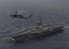 Nimitz Brings U.S. Navy Airpower to Trilateral Malabar Exercise (#PACOM) Tags: ussnimitz cvn68 sailors aircraftcarrier usnavy deployment malabar bayofbengal