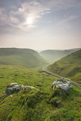 Winnats Pass Morning (Julian Barker) Tags: winnats pass white peak derbyshire district midlands hill interlocking spurs winding road sun sky morning light mist julian barker canon dslr 600