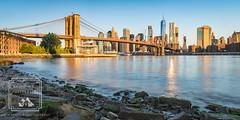 Brooklyn Bridge (fentonphotography) Tags: brooklynbridge nyc panorama newyork unitedstates us manhattan water bluesky cityscape skyline skyscrapers