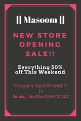 [[Masoom]] New Store Opening Sale! (AmberChaudry Corpur : Owner of [[ Masoom ]]) Tags: sale masoom maitreya belleza slink gown dress clothing secondlife