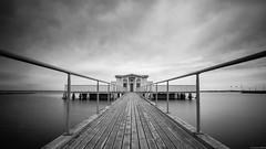 Borgholm's badhus (andreasbrink) Tags: landscape oeland sweden urban bw longexposure water