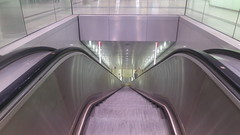Munich after sunset: in an underground station - shiny, clean and ( almost ) empty? (F.R.L., thanks for your views and comments!) Tags: stairs escalator underground metro ubahn subway munich night