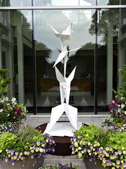 Lisle, IL, Morton Arboretum, Origami in the Garden, Flying Folds (Artist: Kevin Box) (Mary Warren (8.7+ Million Views)) Tags: lisleil mortonarboretum art sculpture flyingfolds origami kevinbox white birds cranes