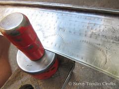 Peening a scythe using a jig (Steve Tomlin Crafts) Tags: austrian scythe peen peening jig