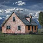 Peach House on the John Moulton Ranch, Mormon Row (Grand Teton N thumbnail