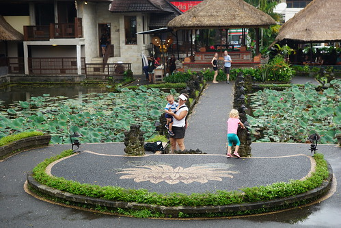 Kate and the twins at the Ubud Water Palace