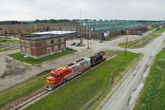 Pride of Silvis (Trainboy03) Tags: national railway equipment nre nrex 1349 atchison topeka santa fe atsf 92 silvis illinois il