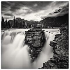 Athabasca Falls (.Wadders) Tags: bw alberta athabascafalls jaspernationalpark canada canadianrockies d600 ngc nikonfxshowcase nikkor1635mmf4 water waterfall mountains