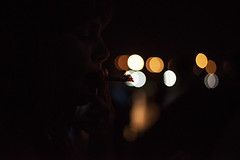 Ione (Drino7) Tags: bokeh fumar tabaco woman color colour tobacco lights night