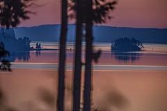 Smoky. Red. Dawn. (David Montesino) Tags: longbranchwashington tacoma washington usa pittpassage sunrise