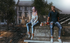 Perfect Date (BerryGotStyle) Tags: versov dela catwa clothes collabor88 euphoric eyes food hair head jeans kirek kustom9 mesh parker pink pose poses pseudo secondlife shirt shoes sweatshirt top treschic white