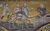 Rebecca disseta i cammelli - Mosaici del XII secolo - Duomo di Monreale (Cattedrale di Santa Maria Nuova)