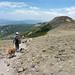 Heading back down, 10,601 ft Church Peak in background