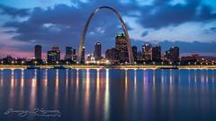 Saint Louis Gateway Arch (Jimmy Harmon) Tags: arch cityscape skyline cityskyline hdr longexposure saintlouis stlouis mississippi river