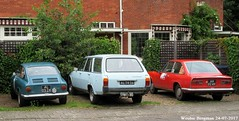 (XBXG) Tags: al0524 al7436 ah0249 fiat 850 coupé 1967 fiat850 coupe peugeot 504 familiale 1972 peugeot504 f11 stationcar stationwagen station wagon break kombi estate bleu blue overveen nederland holland netherlands paysbas vintage old classic french car auto automobile voiture ancienne française vehicle outdoor 124 sport 1968 fiat124 italian italienne italie italia italy