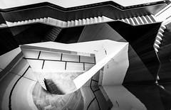 Warped Reality #2 (Sean Batten) Tags: london england unitedkingdom gb blackandwhite bw stairs staircase reflection steps vamuseum city urban nikon d800 1424