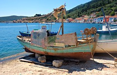 Vathy,Ithaca (plot19) Tags: vathy ithaca greece greek boats boat landscape sea seaside seascape sony rx100 plot19 photography holiday faded