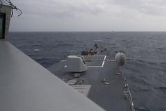 170715-N-BY095-0087 (U.S. Pacific Fleet) Tags: ussshoup ddg86 livefireexercise mk455inchgun destroyer arleighburkeclass malabar2017 deployment carrierstrikegroup11 desron9 bayofbengal
