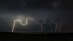 Lightning Over Brighton Wind Farm 18th July 2017 (Damon Hart) Tags: lightning brighton windfarm devils dyke