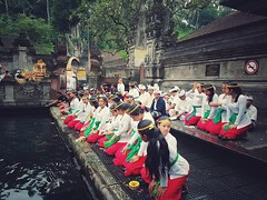 Large Group Of People Multi Colored Real People Men Women Day Indoors  People Adult Adults Only Only Men Praying Ritual Rituals Inside Temple Temple Bali, Indonesia Water (_donnita_) Tags: largegroupofpeople multicolored realpeople men women day indoors people adult adultsonly onlymen praying ritual rituals insidetemple temple bali indonesia water