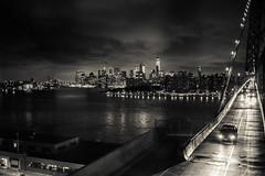 I love NY (Paolo Luppino 73) Tags: night ny newyork travel people street urban jungle humans city bridge williamsburgbridge blackandwhite biancoenero cityscape 35mm noir