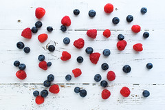 Patriotic Berries (runrgrl661) Tags: berries blueberries raspberries food foodphotography topdown flatlay colorful creative nikond5 fullframe
