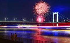River of lights (pecsilinda) Tags: cologne light festival summer travel 2014 rhein canon eos 600d firework germany 1855mm 1855 night city