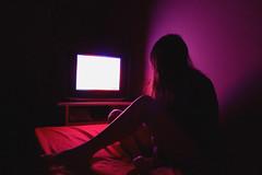 TV 2 (Ivanna Vera) Tags: woman portrait self selfportrait pink red tv retrato tele light