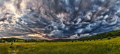 IMG_3657-66Ptzl1TBbLGER (ultravivid imaging) Tags: ultravividimaging ultra vivid imaging ultravivid colorful canon canon5dmk2 clouds stormclouds sunsetclouds scenic vista rural fields farm summer evening pa pennsylvania panoramic painterly landscape sky dramatic
