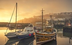 Harbour Hope (Captain Nikon) Tags: mevagisseyharbour mevagissey cornwall southcornwall cornish seaside harbour sunrise boats fishingboats misty mist atmospheric moody golden landscape landscapes landscapephotography coast coastal uk unitedkingdom greatbritain england southwest westcountry harbourwall nikond7000 sigma1020mmf4 srbgraduated06softgradfilter autumn