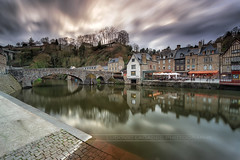 Dinan old town (Ludovic Lagadec) Tags: dinan port riviere river town city ciel sky reflets reflection longexposure cotesdarmor