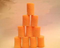 Earplug Pyramid (splattergraphics) Tags: earplugs foam pyramid