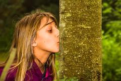 Tree Hugger (Johann (Sasolburg, RSA.)) Tags: tree girl treehugger smileonsaturday halfaface