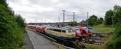 P1270668 (Lumixfan68) Tags: schwenkpanorama panorama loks baureihe 218 dieselloks deutsche bahn db regio werk kiel conny westfrankenbahn