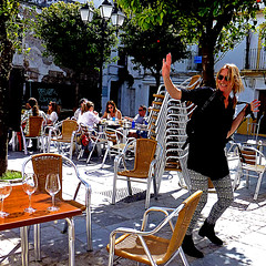 Tarifa, Andalusia, Spain (pom.angers) Tags: panasonicdmctz30 april 2017 europeanunion spain españa andalucìa andalusia cádiz tarifa 100 people smile woman bar 150 5000