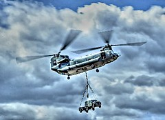 LIFT (conespider) Tags: helicopter lift sky fly transport aircraft outdoor clouds nikon