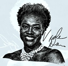 Viola Davis (Bob Smerecki) Tags: smackman snapnpiks robert bob smerecki sports art digital artwork paintings illustrations graphics oils pastels pencil sketchings drawings virtual painter 6 watercolors smart photo editor colorization akvis sketch drawing concept designs gmx photopainter 28 draw hollywood walk fame high contrast images movie stars signatures autographs portraits people celebrities vintage today metamorphasis 002 abstract melting canvas baseball cards picture collage jixipix fauvism infrared photography colors