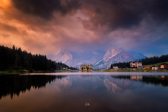 Lago di Misurina (Croosterpix) Tags: morning sunrise lake reflection sky clouds mountains landscape nature dolomiti dolomites lago misurina sony a7r nikkor1835