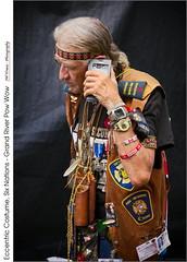 Eccentric Costume, Six Nations – Grand River Pow Wow (jwvraets) Tags: powwow championofchampions grandriver chiefswood brantford firstnations man portrait eccentriccostume caledonia opensource rawtherapee gimp nikon d7100 nikkor18105mmvrmm