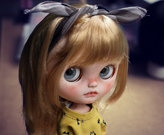 This is Ari. Cute as a button and with lots og personality. See profile for more info ;) (andreea♥mariuka) Tags: blythe custom mariuka mariukadolls andreeamariuka takara tommy cassiopeiaspice rbl carving lips cute freckles faceup doll toy blonde child