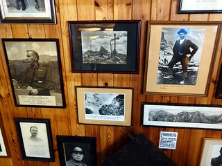 Pictures on the museum wall at Rifugio Bosi