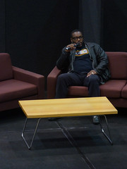 Chad Coleman (Steve Taylor (Photography)) Tags: chadcoleman microphone sofa settee chair table man newzealand nz southisland canterbury christchurch armaggedon