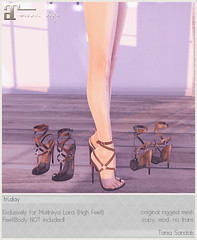 friday - Tania Sandals for Uber July! (Darling Monday) Tags: friday ubersl maitreya kari