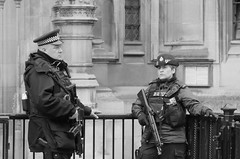 Armed Police Officers at The Houses of Parliament, Westminster, London (markwilkins64) Tags: firearms guns police policeofficers parliament london britain uk